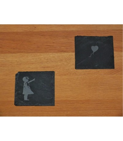 Banksy art coasters