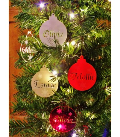 Personalised acrylic Christmas tree bauble