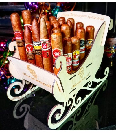 Christmas Sleigh Cigar Holder