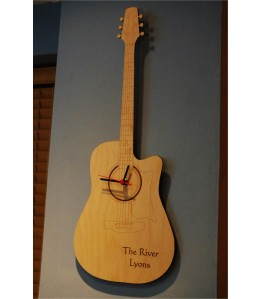 Personalised Guitar Wall Clock