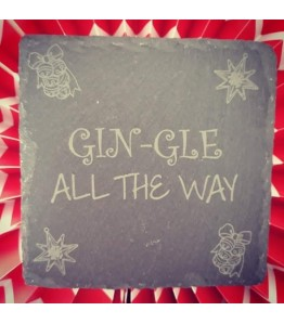 GIN-GLE all the way coaster