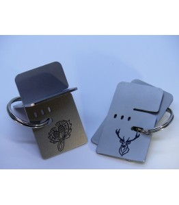 Keyring cigar stand - Stainless Steel