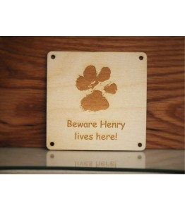 Your pets paw print sign