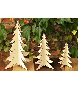 Trio of wooden Christmas trees